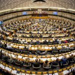 General view of the Plenary chamber in Brussels - PHS Hemicycle - Plenary session week 46 2014